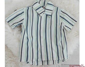 Boy's short sleeves shirt striped