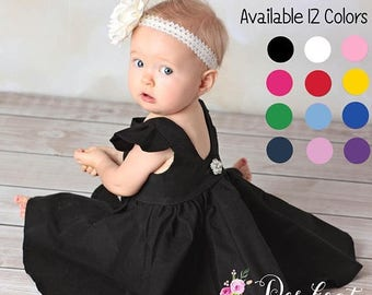 SALE Little Black Dress | Girls Black Dress | Baby Black Dress | Breakfast at Tiffany | Audrey Hepburn | Classic Black Dress |Toddler Black