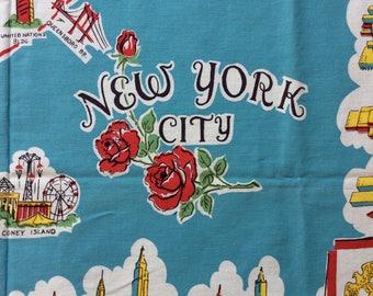 Vintage New York City souvenir tablecloth