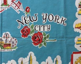 "Vintage New York City souvenir tablecloth  48"" x 51""  Wonderful condition"