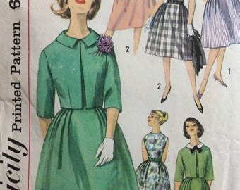 Simplicity 4339 misses dress & jacket size 16 bust 36 vintage 1960's sewing pattern