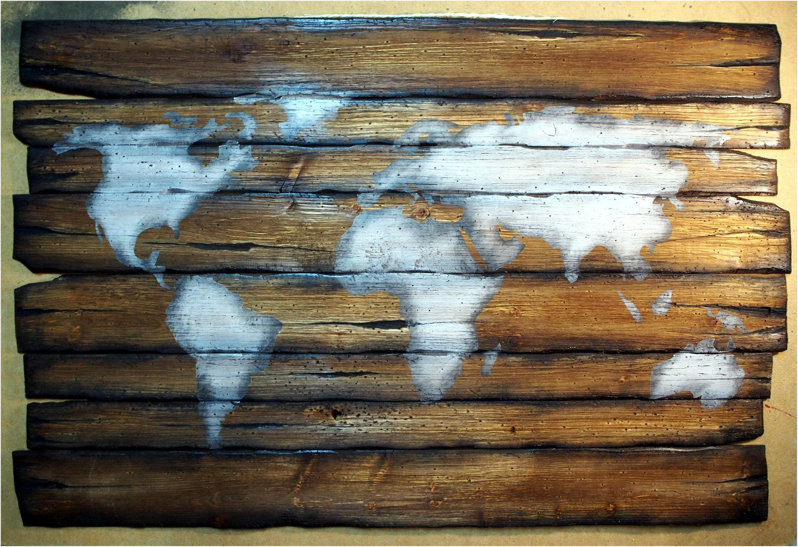 Wall Decor Out Of Wood : World map rustic decor handmade worn out wood sign