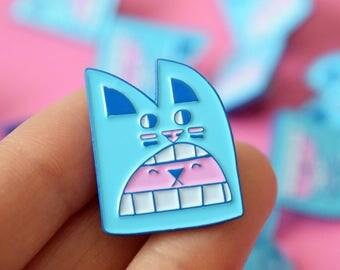Cute Bear Pin, Kawaii Bear Enamel Pin, Animal Pin, Fun enamel pin, Bear badge, bear brooch, candy coloured pin badge, YUK FUN pin badge