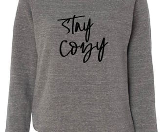 Stay Cozy loose neck sweatshirt XL