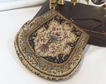 Edwardian Tapestry Evening Bag