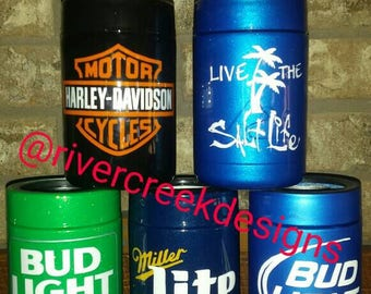 Hand painted Stainless steel can cooler