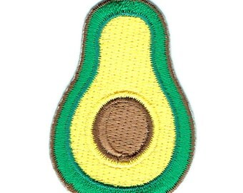 Avocado Iron On Patch Embroidered Applique