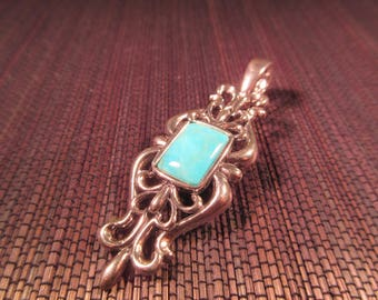 Carolyn Pollack Southwestern Sterling Silver Turquoise Pendant