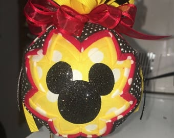 Micky mouse silloute ornament