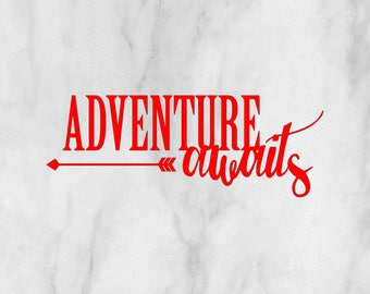 Adventure Awaits decal / adventure awaits sticker / monogram decal / monogram sticker / adventure decal / car monogram / car sticker /