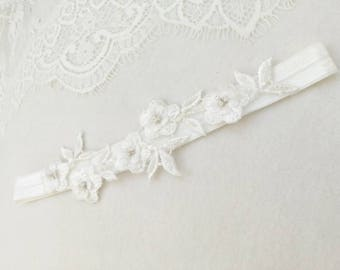lace flower garter, wedding garter, bridal garters, slim garter, garter set , bridal garter belt