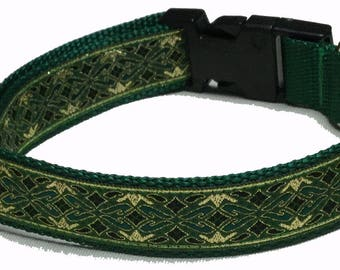 Dog Collar, Celtic - Metallic