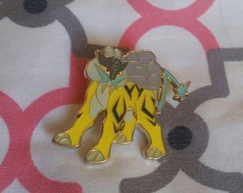 Pokemon Official Legendary Thunder Dog Raiku Pin