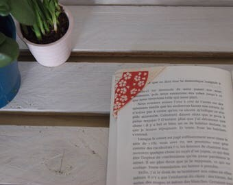 Bookmark - bookmark in Japanese fabric, handmade by Persephone Boutique