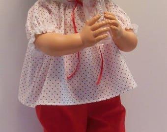 """Red Pants Set for 28"""" Horsman Thirstee Walker Dolls"""