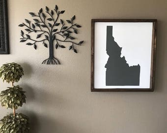 18x20 Painted & Framed Wood Sign-Idaho-ID state- Choose Your State