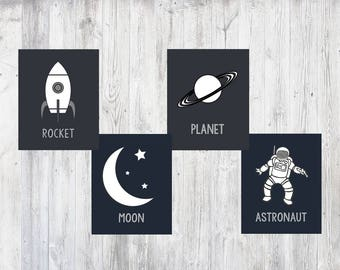 Space Themed Printables, Space Room Decor, Space Prints