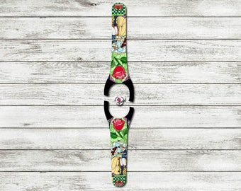 Stained Glass Rose Magic Band 1.0 or 2.0 Decal | Custom Waterproof MagicBand Wrap | RTS Ready To Ship | Glitter MagicBand Decal