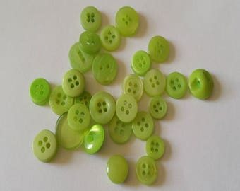 30 Light Green Colored Button  - #PDSP-00003