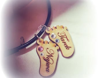 Baby foot chain with engraving
