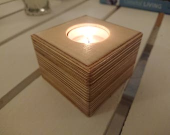 Birch Plywood Candle Holder