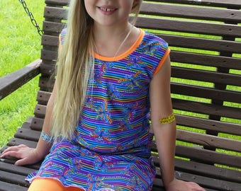 Girl's Modest Butterfly Suit - Size 6 Swimwear - Pre made Swimsuit - Modest Swimwear for Girl's - Modest Swimming Suits - Girl's Swimwear