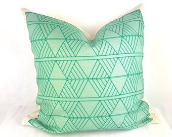 Mint cushion, scandi mint cushion, skandi cushion, scandi pillow, geo mint cushion cover, mint throw pillow, kids cushion