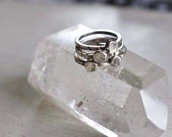 Wee Things- small sterling stackers