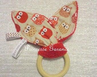 Teething ring Montessori swishing - in-stock paper-bunny ears