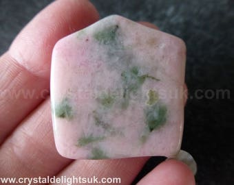 Sacred Heart / Nzuri Moyo  (17.1 grams / 32 mm) Mini Slice or Tumblestone  (A35(a))  - FREE UK POSTAGE