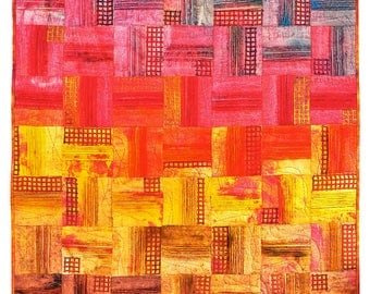 Art quilt wall hanging, abstract quilt Colorful art, crazy quilt living room decor, wall decor, patchwork quilts for sale, mix media