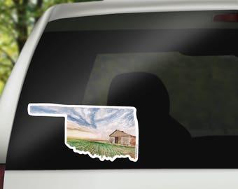 Oklahoma Vinyl Sticker - Oklahoma State Decal - OK Sticker - OK Decal - OK Vinyl Sticker - Home State Decal -  missing home gift - homesick