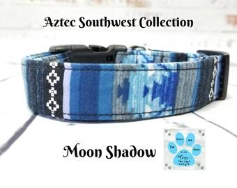 Bohemian Dog Collar, Aztec Dog Collar, Navajo Dog Collar, Tribal Dog Collar, Southwestern Dog Collar, Rustic Dog Collar, Pet Collar