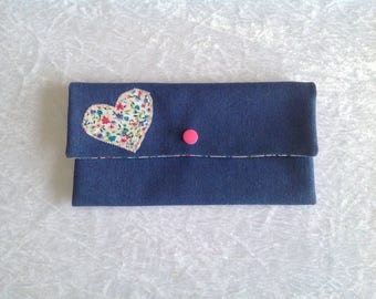 Kit in jeans and Liberty heart snap