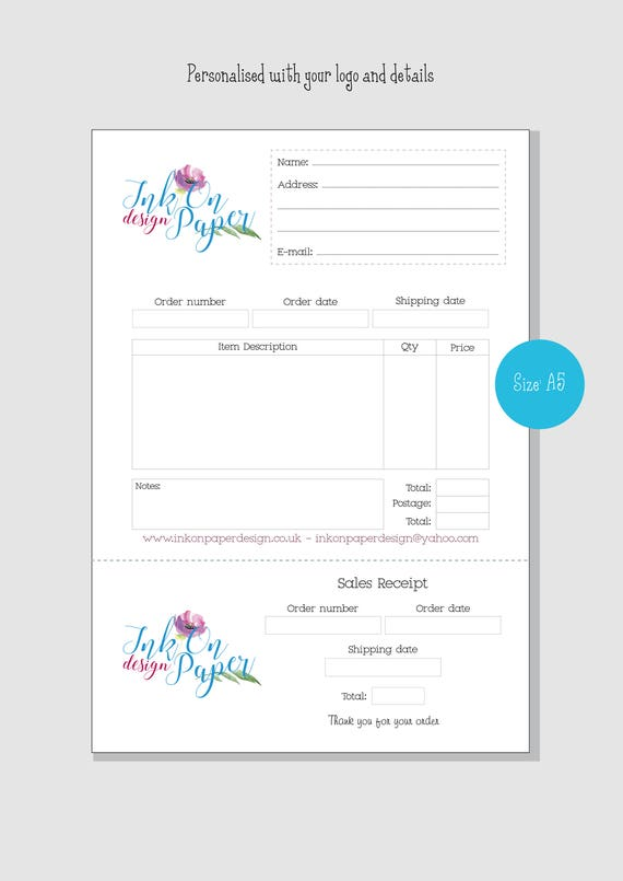 Elegant Like This Item?  Printable Receipt Book