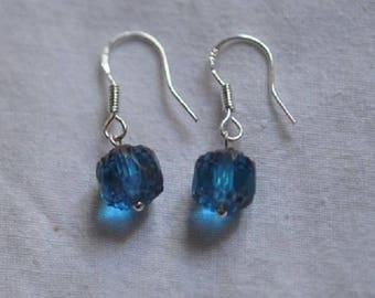 Glass Silver 925 pierced earrings