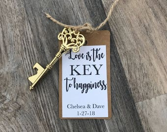 Key bottle opener wedding favors - personalized favors - guest favors