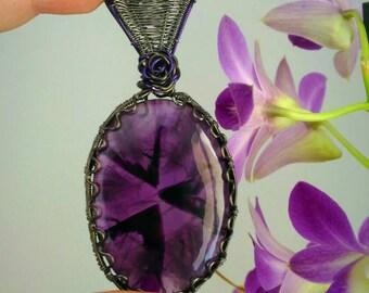 Spiky Amethyst pendant