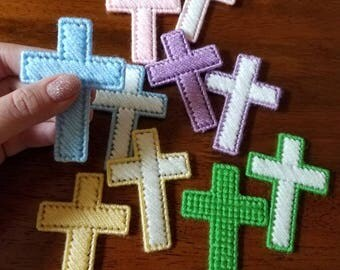 Pocket Cross; Cross In My Pocket; Handstitched Cross; Cross Stitch Cross; Christian Accessories; Plastic Canvas Cross