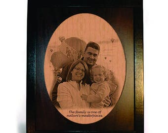 Personalized Engraved Photo Framed Pyrograph
