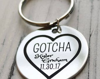 Gotcha Day Adoption Personalized Key Chain - Engraved