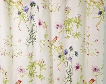 SALE Linen Shower Curtain Covington Floral Shower Curtain Custom Shower  Curtain 72x 84 72 X 96
