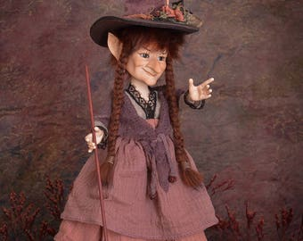 Witch doll dolls handmade art doll porcelain doll witch figurine handmade doll witch decoration witch art dolls LIMITED EDITION