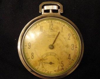 Vintage Jewelry Pocket Watch WESTCLOX POCKET BEN For Parts Or Repair!!! 1955