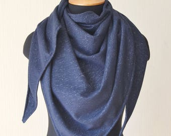 Jersey scarf navy blue scarf shawl womens giftIforIher soft scarf womens scarf chrismas gift for mom gift oversized scarf wrap sister gift
