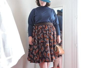 Corolla wax midi skirt