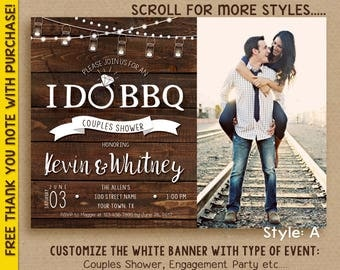 I DO BBQ Invitation / Couples Shower invitation / Engagement party / Digital File