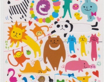 Yuru Animal Stickers - Japanese Stickers - Mind Wave Stickers - Reference A4081-82A4126
