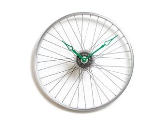 Bicycle Wheel Clock, Bicycle Wall Clock, Large Wall Clock, Unique Wall Clock, Large Wall Clock, Bike Clock, Oversized Clock, Big Wall Clock
