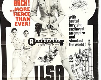 1976 Original ILSA Harem keepers of The Oil Sheikes Movie Poster-Adult-Only Nazi exploitation film